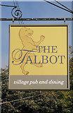 SJ8959 : Sign for The Talbot by Jonathan Kington