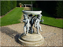 TQ1352 : Sundial in the formal gardens at Polesden Lacey by pam fray