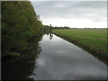 TR1034 : Royal Military Canal flowing towards West Hythe by David Anstiss
