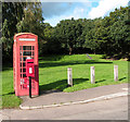 TG3312 : Faded K6 telephone box at Pedham Green by Evelyn Simak