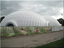 SP0683 : Venue for children's show, Cannon Hill Park by Robin Stott