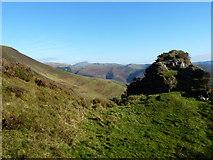 SH8214 : The Maesglase pillar, and the Aran ridge beyond by Richard Law