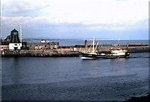 NJ9505 : A Danish trawler entering port at Aberdeen (1978) by Stanley Howe