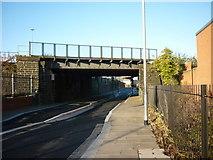SE2932 : A rail bridge on Sweet Street West, Holbeck, Leeds by Ian S