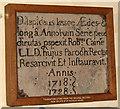 TG5003 : The church of St Nicholas in Bradwell - foundation stone by Evelyn Simak