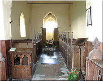 TF7633 : All Saints' church in Bircham Newton - view west by Evelyn Simak