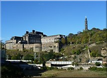 NT2674 : St. Andrew's House and the Calton Hill from the Canongate by kim traynor