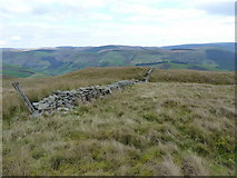 SH8516 : The top of the wall on Foel Benddin by Richard Law