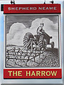 TQ7913 : The Harrow sign by Oast House Archive