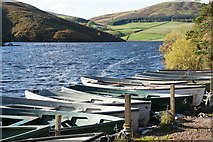 NT2263 : Fishing boats on Glencorse Reservoir by Mike Pennington