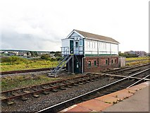 NY0336 : Maryport Station Signal Box by Rose and Trev Clough