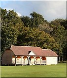 TQ4223 : Sheffield Park Cricket Pavilion by Paul Gillett