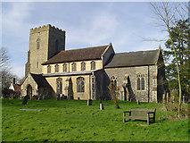 TM1273 : Yaxley St Mary's church by Adrian S Pye