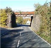 SO2508 : Rusting railway bridge, Blaenavon by Jaggery