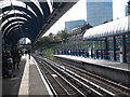 TQ3780 : Looking down the line at All Saints DLR station by Rod Allday