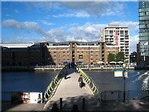 TQ3780 : West India Dock North footbridge by Rod Allday