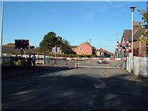 SJ6752 : Level crossing at Willaston near Crewe by Margaret Sutton