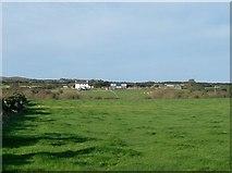 SH1728 : View west across farmland towards Ty-Isaf  by Eric Jones