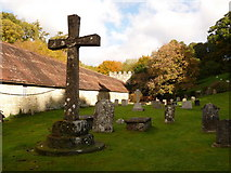 ST7733 : Stourton: churchyard cross by Chris Downer