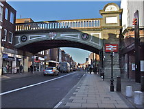 SO8455 : Foregate Street Railway Bridge, Worcester by Chris Whippet