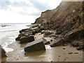 TM5178 : Sea defences below Easton Cliffs, Easton Bavents by Evelyn Simak