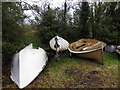 G8855 : Boats, County Leitrim by Kenneth  Allen