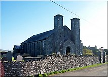 SH1727 : The west facade of Eglwys Newydd, Aberdaron by Eric Jones