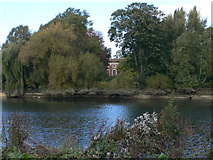 TQ1673 : Orleans House glimpsed from the Thames Path by Eirian Evans