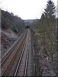 SD9927 : Railway west of Hebden Bridge Station by Alexander P Kapp