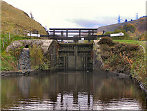 SD9321 : Rochdale Canal, Winterbutlee Lock by David Dixon
