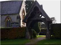 TQ1450 : The lych gate at Ranmore on the North Downs Way by Shazz