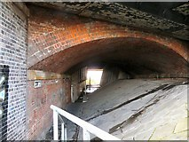 SJ9195 : Footpath under the M67 by Gerald England