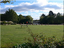 TQ1977 : The gardens of the National Archives, Kew by Eirian Evans