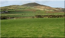 SH1626 : View across farmland in the direction of Mynydd Anelog by Eric Jones