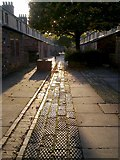 SU1484 : Alley between Oxford Street and Reading Street, Swindon by Brian Robert Marshall