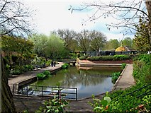SJ9222 : Victoria Park (2) - Ornamental pond by P L Chadwick