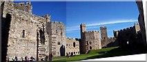 SH4762 : Caernarfon Castle, Interior by Len Williams