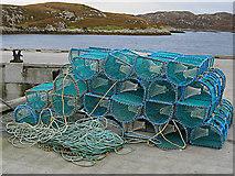 NF8855 : Lobster creels at Kallin by Lis Burke