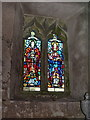 NY6208 : All Saints Church, Orton, Stained glass window by Alexander P Kapp