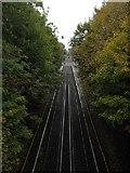 TR2548 : Railway towards Shepherdswell Station by David Anstiss