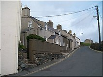 SH1726 : A terrace of houses overlooking St Hywyn's Church, Aberdaron by Eric Jones