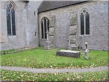 SO3958 : Graves by the chancel by Bill Nicholls