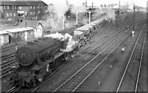SE5853 : Up Permanent Way stone train at York Yard North by Ben Brooksbank
