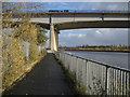 NZ4719 : Teesdale Way at the A19 Viaduct by Chris Heaton