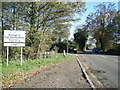 SK0133 : B5027 Uttoxeter Road at district boundary by Colin Pyle