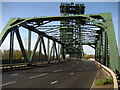 NZ4719 : On Newport Bridge by Chris Heaton
