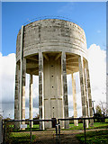 TM1888 : Water tower east of the A140 road by Evelyn Simak