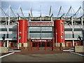 NZ5020 : Entrance to the Riverside Stadium by Chris Heaton