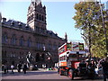 SJ4066 : Tourist Bus and Town Hall, Chester by Peter Stack