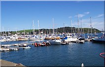 SW8132 : Boats in Falmouth Harbour by Andrew King
